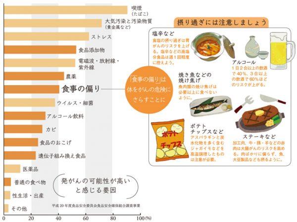 発がんの可能性が高い食品(平成20 年度食品安全委員会食品安全確保総合調査事業)