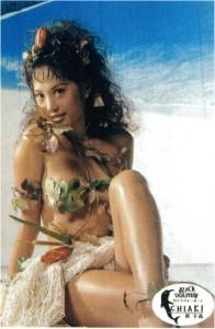 「クラリオンガール」に選出されてデビューしたころの原さん。篠山紀信氏撮影の写真集を発表するなど、セクシータレントとして活躍した時代もあった。
